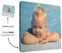 Screen Printed In Fabric With Your Digital Photo (Canvas) -