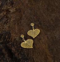 Cerrado Leaf Earring - Heart shaped - S -