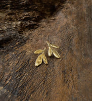 Fixed Rue Leaf Earring -
