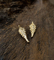 Fixed Fern Leaf Earring -