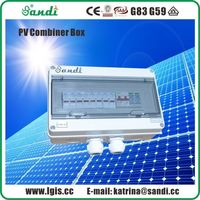 4 Strings PV Array Combiner Box ABS Plastic Solar DC Junction Box -