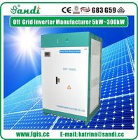 High quality off grid 100KW 3phase inverter for solar power system with LCD display -
