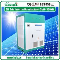 200KW off grid solar power inverter 3 phase inverter pure sine wave inverter -
