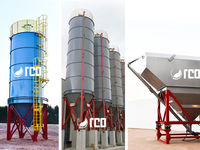Silos for dust material storage -  vertical or horizontal structures -