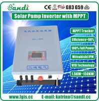 CE approved 11KW MTTP solar water pump inverter for agriculture water submersible pump -