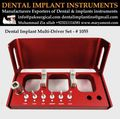 Dental implant instruments