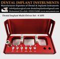 Dental implant instruments