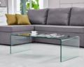Mesa de vidro de dobra quente a mobília da forma simples