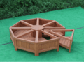 customized outdoor wooden octagonal flower stand