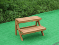 customized outdoor wooden flower rack/stand