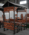 customized wooden outdoor pavilion/gazebo