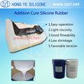 Caucho de silicón transparente para resina diamante moldeado -