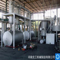 Waste rubber pyrolysis equipment, 6T -
