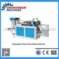 Máquina para fabricar guantes desechables