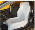 Front Car Seat Cover - Plastic - W / 100 Units -