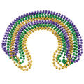 Mardi Gras Festival carnival Party Beads Necklace Bulk | 144PK | 8mm Mixed WS6526D