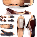Leather sandals with Neoprene-Ana Lucia -