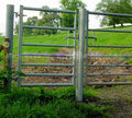 Quick and easy installation of galvanized or PVC metal materials multi-purpose farm doors