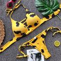 Especializada en la producción del último bikini de moda por mayor, traje de baño para damas, alta calidad y bajo precio, puede aceptar personalizado