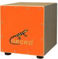 Gecko CM65 Kinder Kid Cajon Drum con respaldo, único cajón, cajón colorido set de batería acústica -