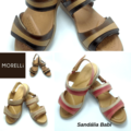 Legitimate Leather Sandals 2 Babi strips