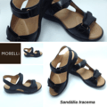 Sandalia de cuero de Iracema
