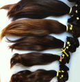Human Hair Brazilian Sewn / Brazilian Human Hair Sewn - Machine Weft - / Cabello Brasileño Sewn