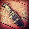 Custom Leather Sheath-Hand Crafted-Premium-Made For Any Knife-Saddle Leather-High Quality/Grade Sheaths -
