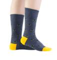 Custom Chunky Colored Mens Dress Socks Custom Plain Knit Prime 100% Cotton Socks For Men