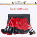 24-piece Christmas eve cosmetic brush - black bag