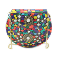 Indian mosaic metal clutch bags for womens