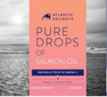 PURE DROPS OF SALMON OIL, 90 CAPSULES, 500 MG