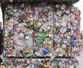 Aluminio Se utiliza latas de bebidas (UBC) y restos de Extrusión de Aluminio 60603, chatarra de aluminio, papel de aluminio