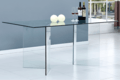Home dining room furniture transparent glass dining table