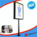 ZM-DG04 Outdoor Led Tv Advertising Screen Billboard Steel Structure Billboard Pole Light Box Best Price Manufacturer -