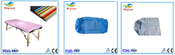 diaposable non-woven  bed sheet with different colors and sizes / Disposable non-woven bed cover with elastic / disposable non-woven pillow cover with different colors and sizes