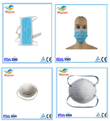 Disposable non-woven three-layer tied face mask / ear loop face mask /  PP  Anti-dust face mask /  anti-dust cup face mask with valve