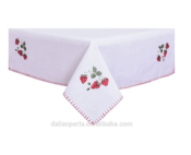 Polyester Fruit Embroidery Tablecloth