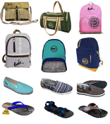 BACKPACKS AND SANDALS-GREEN PRODUCTS