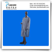 disposable PP nonwoven visit coat lab coat