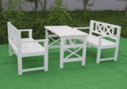 Outdoor long tables and chairs