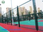 Frame-type fence for sports ground,...