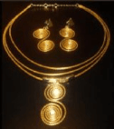 Necklace And Earrings In Golden Gra...