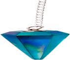Pointed Pendulum Of Aqua Aura - Crystal Rio