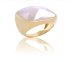 Gold-Plated Ring With Natural Stone