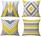 Linen cotton geometric pattern in digital printing - Tyee Home Textile Co