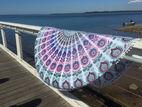 波西米亚曼荼罗轮沙滩挂毯嬉皮扔瑜伽垫毛巾印度roundie