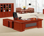 MDF Office Executive Desk Solid Wood Vaneer Table for Manager Boss - Guangzhou Seatshine Furniture Co., Ltd.