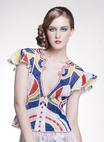 Lace blouse with Renaissance theme Pernambuco Flag - DeRendas-Rendas Artesanais