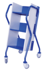 Fenix Anatomic/Ergonomic Cart (AEC) to books transport - 5FE080 - METALPOX